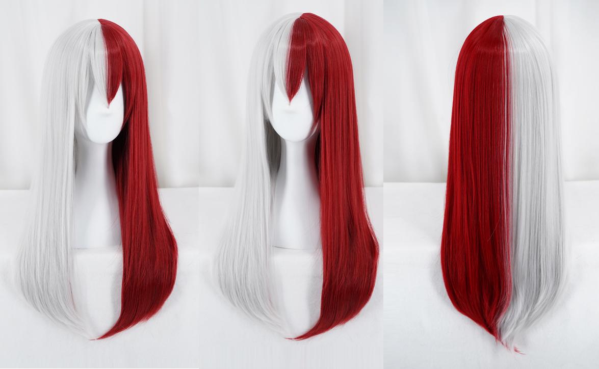 cap 65cm My Boku no Hero Academia Todoroki Shouto Cosplay costume wig