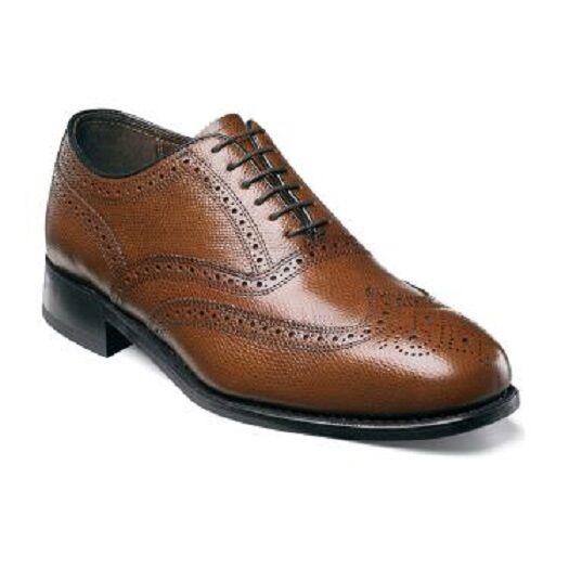 Mens Florsheim Lexington Wingtip Leather shoes 17066-221 Cognac