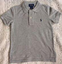 New Ralph Lauren Boys Grey Cotton Polo-shirt 6Y