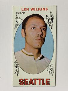 Len-Wilkens-Seattle-Supersonics-1969-Topps-Basketball-Card-44-VG