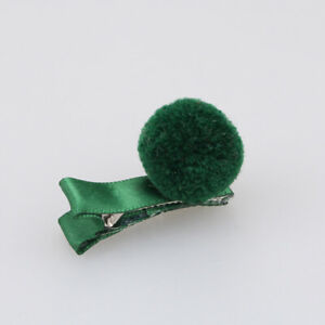 Girls-Hair-Pin-Baby-Kids-Hair-Clip-Cute-Color-Ball-Hair-Accessories-Green