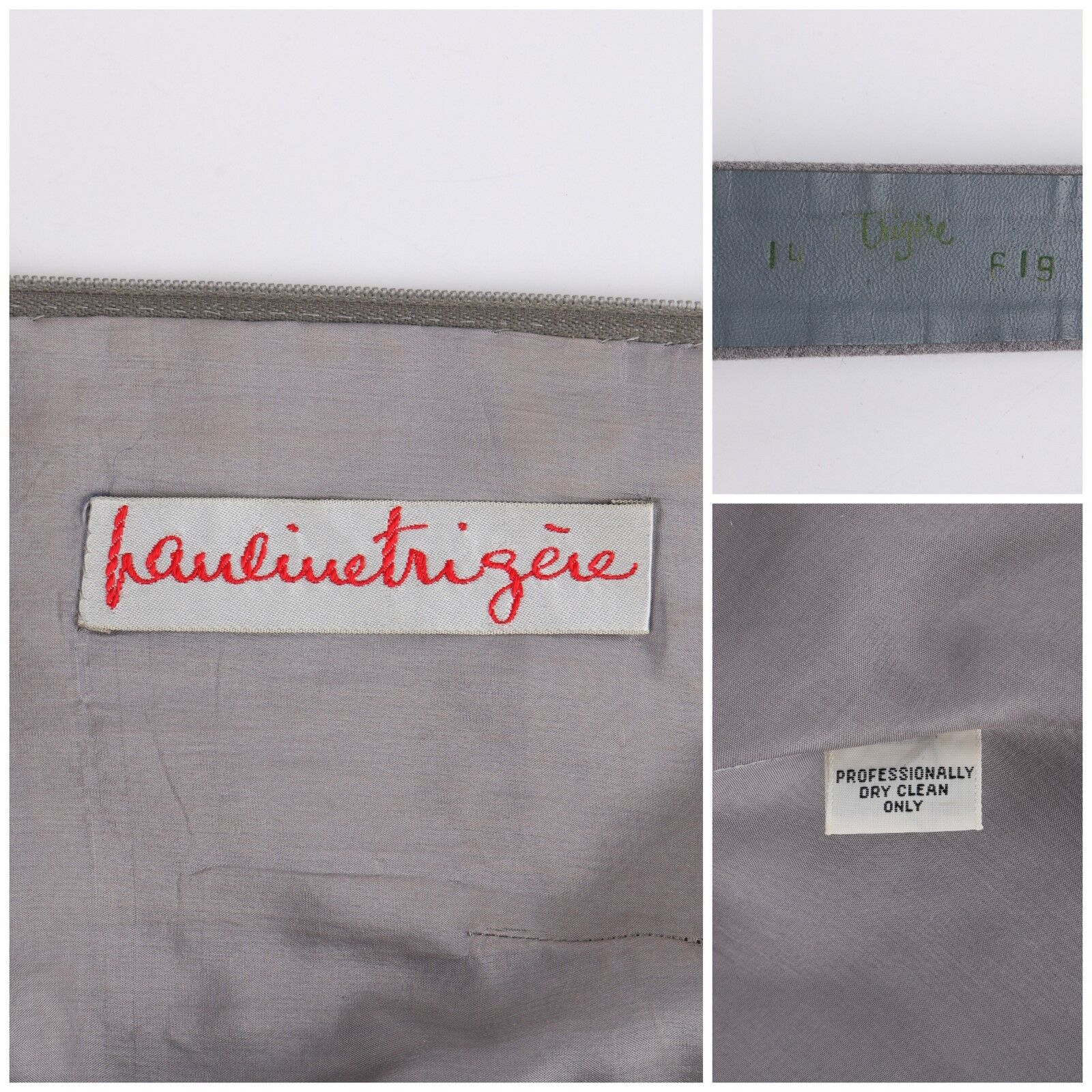 PAULINE TRIGERE c.1980's Gray Wool Extended Shoul… - image 8