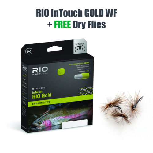 RIO InTouch GOLD WF7 Floating - Fliegenschnur - Fly Line + FREE DRY FLIES