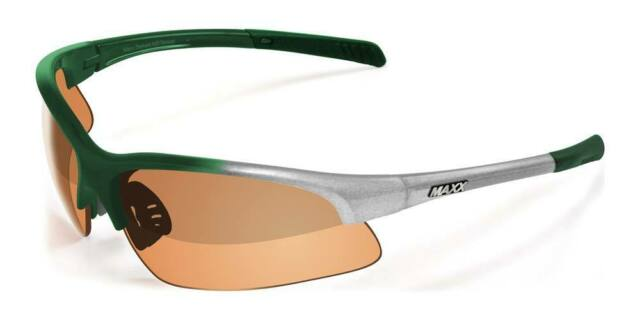 24bfa987e78 Maxx HD Sunglasses Domain Silver Green Golf High Definition Brown Lens A1