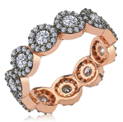 Argent Sterling 925 turc fait main fleur femmes Eternity Ring