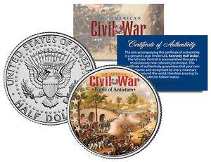 American-Civil-War-BATTLE-OF-ANTIETAM-JFK-Kennedy-Half-Dollar-U-S-Coin