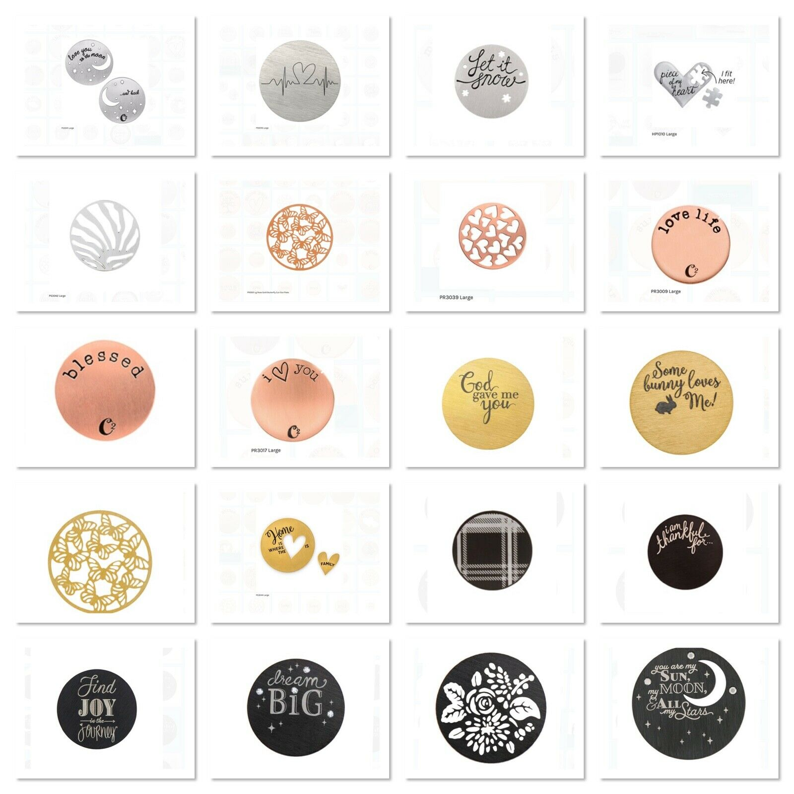 Modeschmuck Uhren & Schmuck Origami Owl Silver Heart Plates for ... | 1600x1600