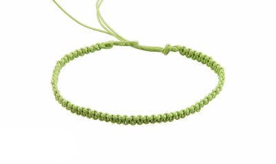 Bracelet bresilien amitie fil de coton tresse porte bonheur beige 8179 F4