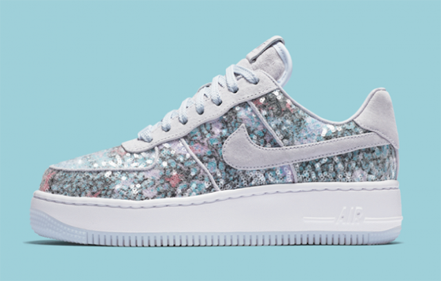 premium selection ac8ca c3734 Nike Air Force 1 Upstep 35 Glass SLIPPER Sequin Glitter Prom Multicolor  WMNS 9.5 for sale online  eBay