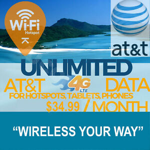 AT-amp-T-Unlimited-4G-LTE-Data-34-99-Per-Month-Hotspots-Tablets-Phones-Rare-Plan