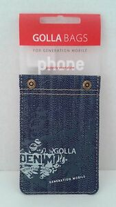 Golla-G1072-Rivetto-Denim-Universal-Smart-Phone-Pocket-Pouch-Sleeve-Dark-Blue