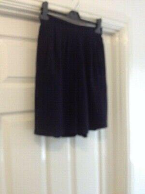 Consegna Veloce Vintage Blu Navy Vita Alta Culottes Pantaloncini Taglia 10 Isabelle Smart Vacanze Estive-mostra Il Titolo Originale