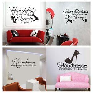 Details about Hair Salon Shop Wall Sticker Inspiration Beauty Quote Vinyl  Removable Art Decor