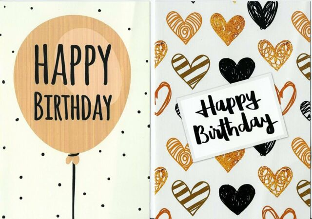 Pack Of 10 Budget Birthday Cards Modern Designs Envelopes By Greetingles