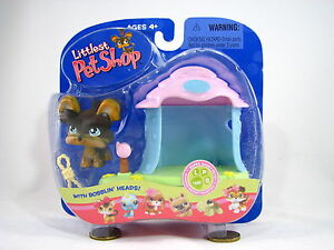 BNIB-LITTLEST-PET-SHOP-YORKIE-WITH-DOGHOUSE-AND-ROPE-TOY-141