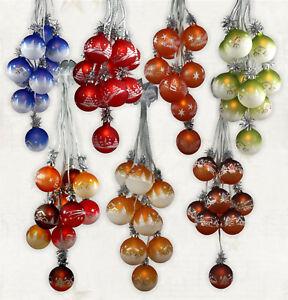 Beleuchtete Weihnachtskugeln.Details Zu Weihnachtsdekoration Beleuchtet Glaskugelschmuck Kugelgehänge Weihnachtskugeln