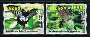Tonga - 2015 Butterflies EMS Rates Part 2 Postage Single Stamps Set