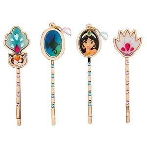 Disney Store Jasmine Princess Aladdin Jeweled Hair Pin Set Of 4