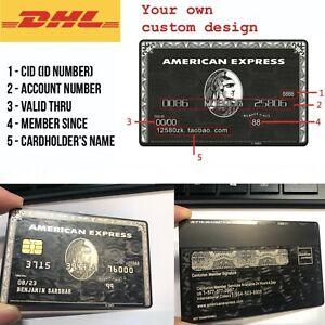 Custom-Metal-American-Express-Centurion-AMEX-Black-Card-w-magnetic-strip-chip