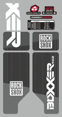 SUSPENSION DECAL SET  NEON YELLOW ROCK SHOX BOXXER 2010 FORK