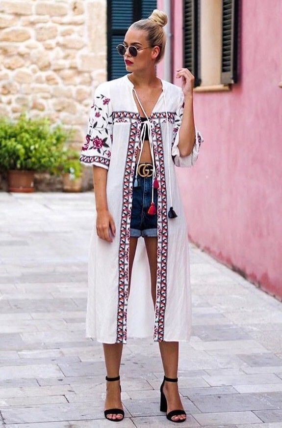 ZARA OFF-WHITE EMBROIDERED TUNIC DRESS SIZE XS BNWT
