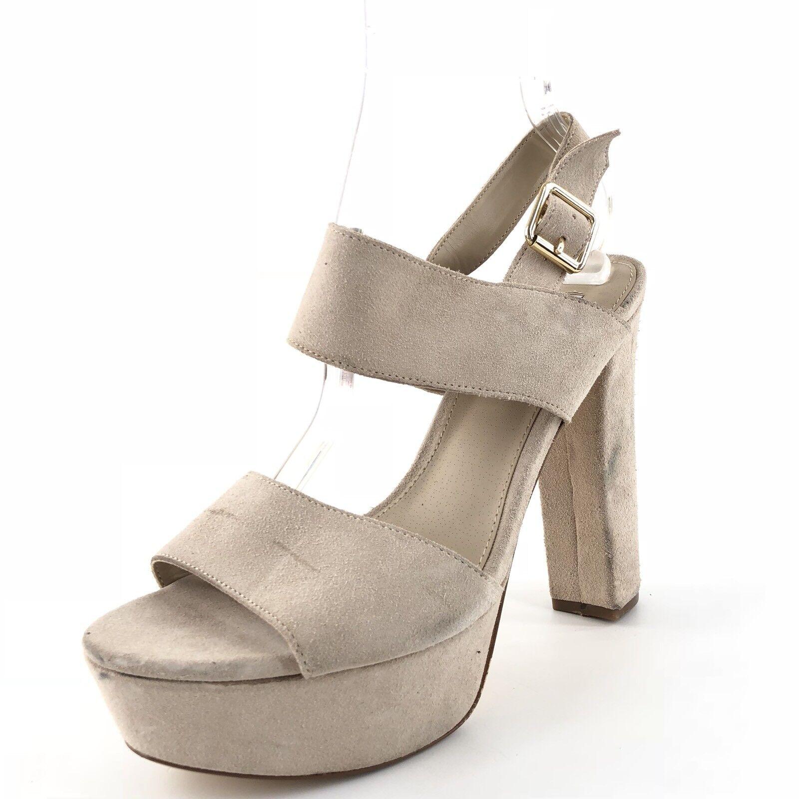 spedizione gratuita in tutto il mondo Steve Madden Lenore Bone Suede Ankle Strap Platform Platform Platform Sandals donna Dimensione 9 M  salutare