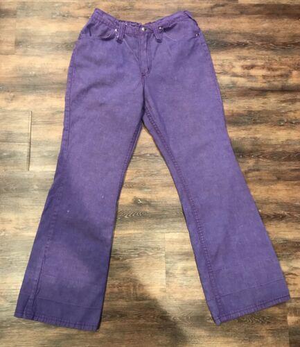 Vtg Purple Wrangler Bell Bottoms Jeans Made In Usa