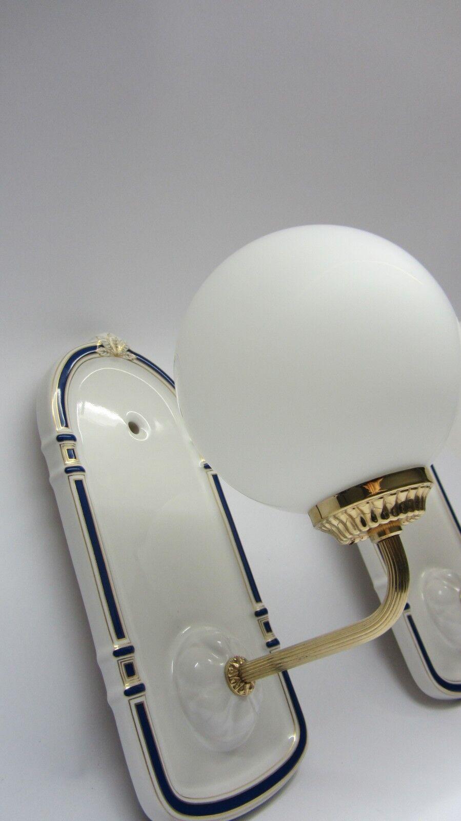 Dornbracht Madison Badezimmer- Spiegel Lampe verGoldet Villeroy & Boch '70er J