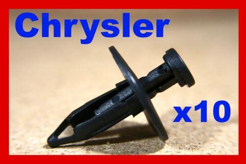 10 Chrysler engine undertray carriage tray panel splash shield fastener clips