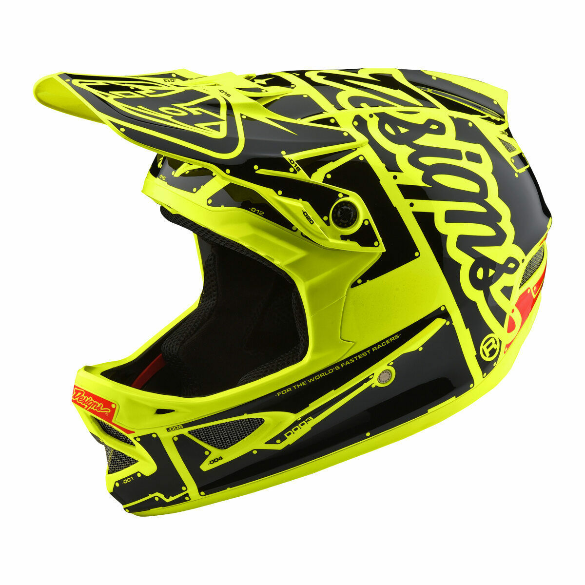 Troy Lee Designs downhill-MTB-casco d3 fiberlite Factory flo amarillo