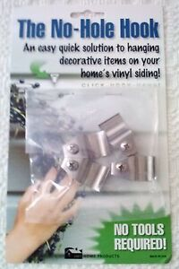 No Hole Hook Vinyl Siding Hangers Low Profile With Screw