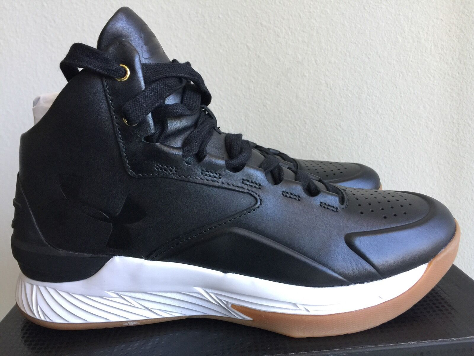 CURRY 1 LUX MID LEATHER BLACK GUM 1298700-001 Size 9