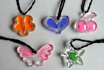 Brioso Collier Pendentif Coeur Etoile Papilloncerise 3 Cm ColorÉ