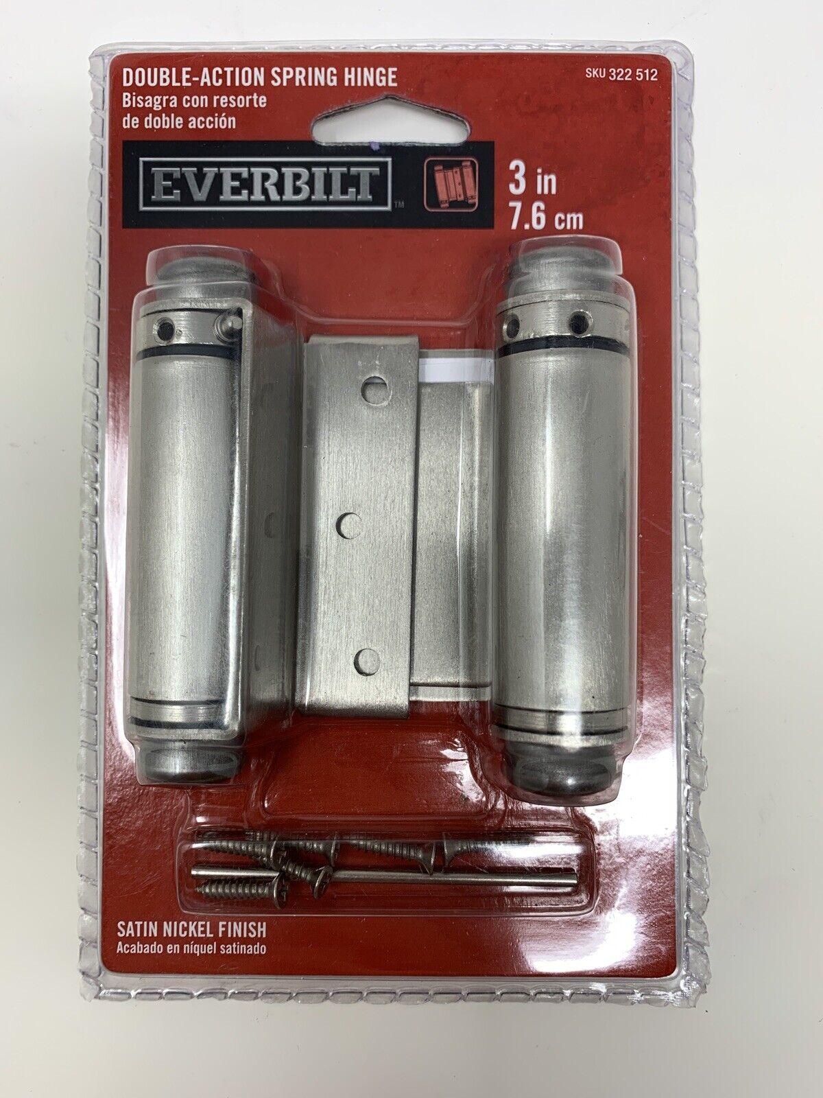 Everbilt 10'' Satin Nickel Finish Door Double Action Spring Hinge ...