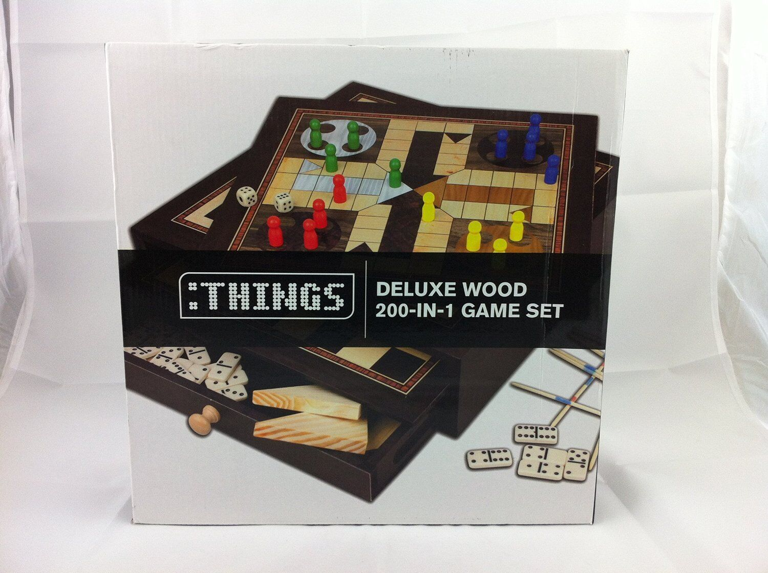 THINGS deluxe wooden 200 in 1 games set