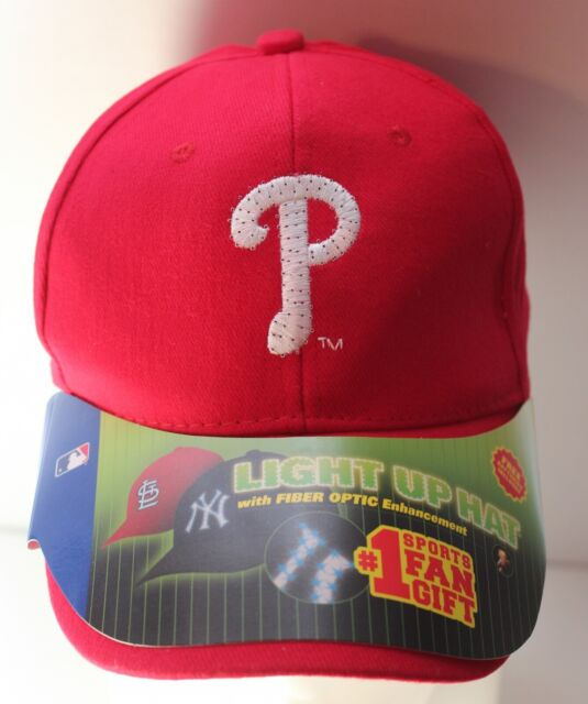 Philadelphia Phillies MLB LIGHT UP Fiber Optic Adjustable Baseball Cap Hat NWT