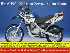 Bmw F650 Gs F650 Gs Dakar 2000 2007 Service Repair Workshop Manual Ebay