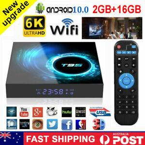 T95 Android 10.0 Smart TV Box 2GB+16GB Quad Core HD 6K HDMI WIFI Media Player AU