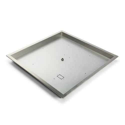 """HPC Fire 57024SQ 24/"""" Stainless Steel Square Bowl Pan"""