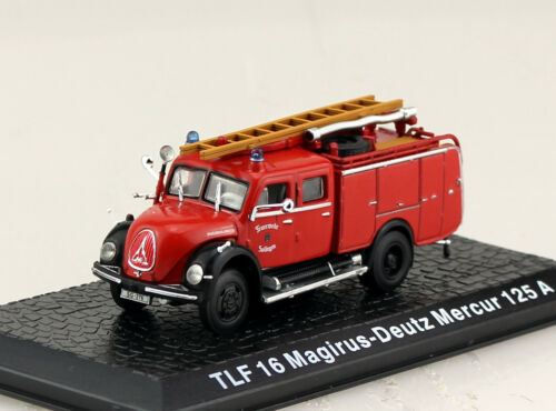 Magirus-Deutz Mercur 125A TLF 16 Feuerwehr Atlas 1:72 Modellauto