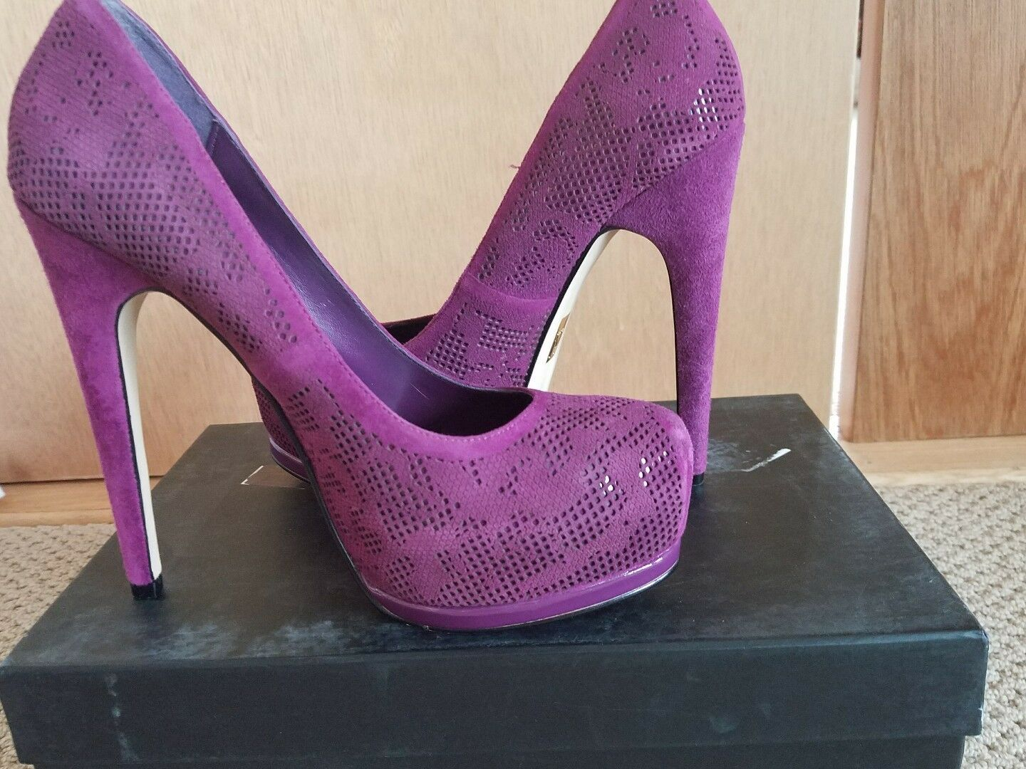 Truth or Dare by MaDamens Größe 7  LANGLADE Purple Suede Heels New Damenschuhe Schuhes.