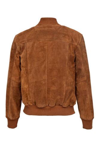stile da 80 New bomber scamosciata chiaro in marrone Danny 80 Danny pelle uomo Nuova giacca A6qHS8gYw