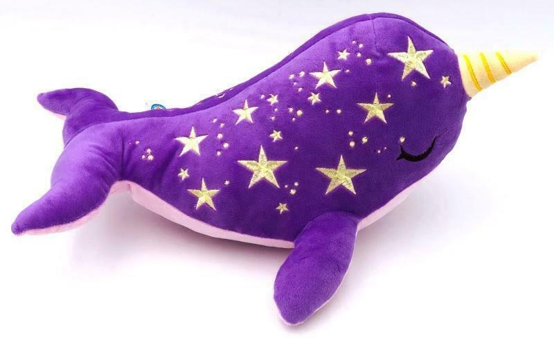 MAMA STARWHAL EXTRA LARGE NARWHAL 17 17 17  PLUSH BY INKI-DROP fea099