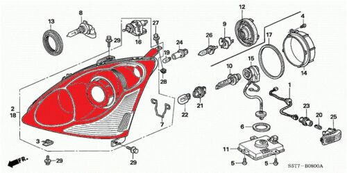 Honda Civic EP3 EU Si Headlight left KOUKI NEW 2001-2005 PROJECTOR DEPO Type R