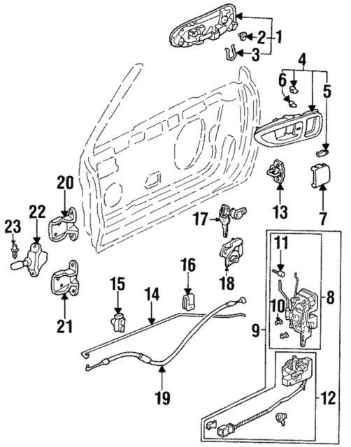 Buy Honda Oem 72134sm1003 Front Door Handle Outside Bushing Online