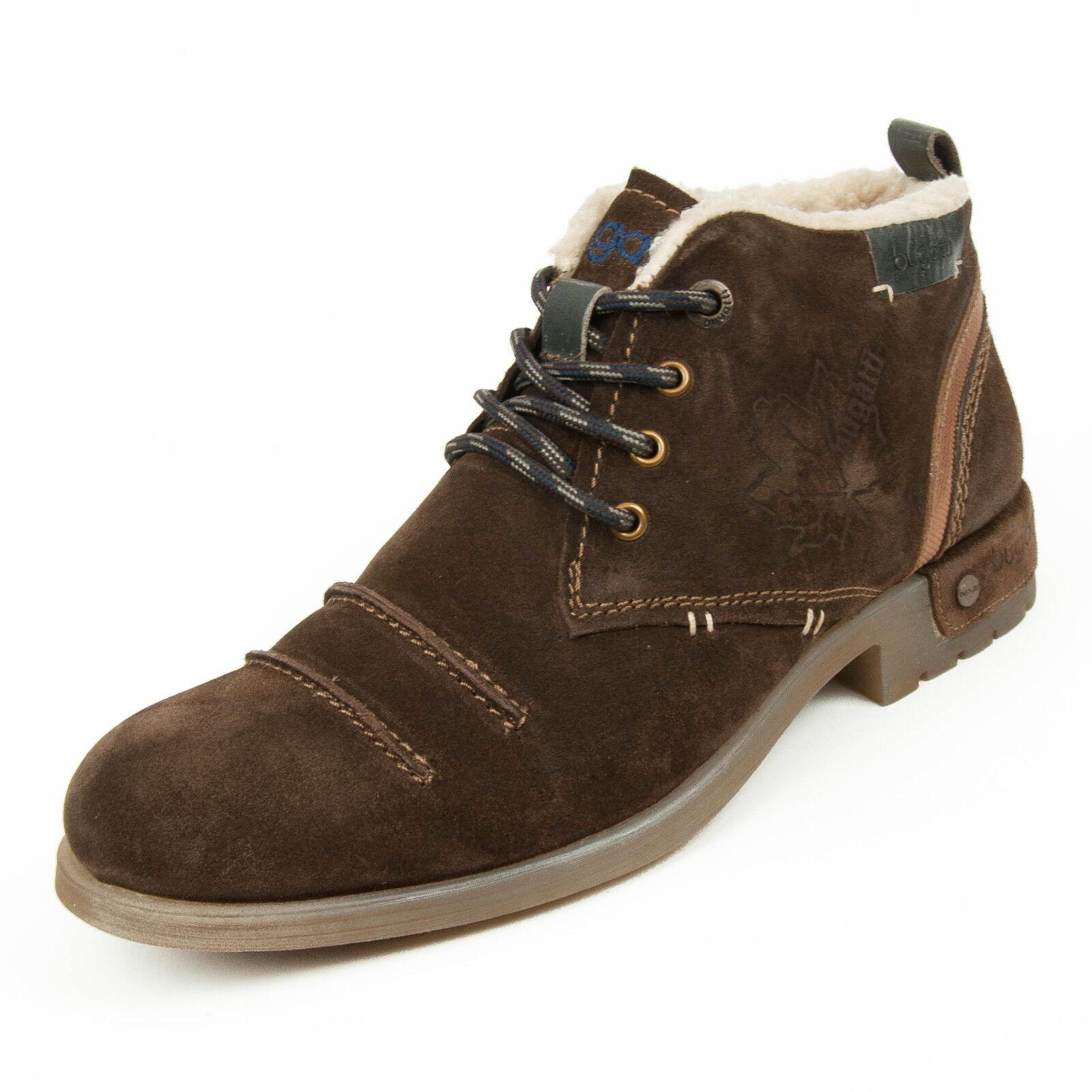 Bugatti caballero zapatos cuero schnürbotas botines marrón k3258-3-600