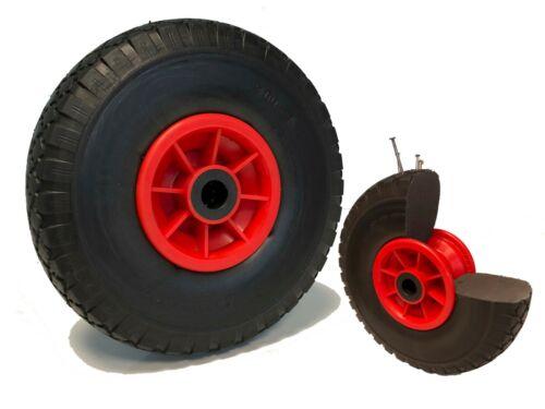 Roue increvable corps rouge 260 x 85 LM75 AL25 à rouleaux charge 75 Kg