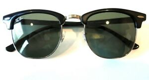 b713a57238 Image is loading Ray-Ban-Clubmaster-Sunglasses-RB3016-901-Black-Frame-
