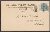 Kanada alte 1 Cent Ganzsache, gel. in Ottawa 1903, GA