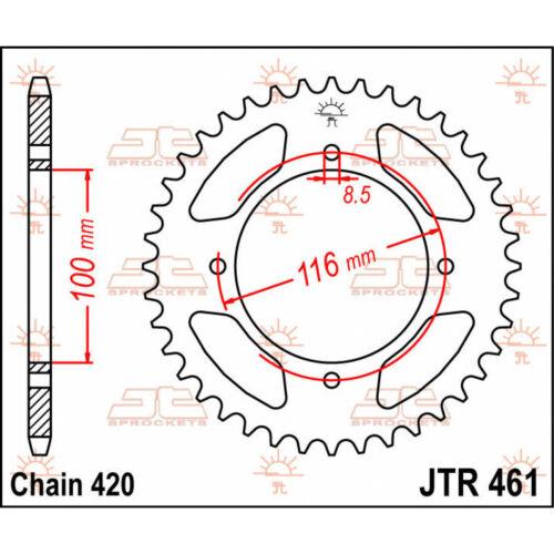 Kit Chaine Hyper Renforcé  KAWASAKI KX 85 GRANDES ROUES 01-17 2001-2017
